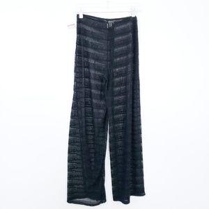 1ee1dcf8026d2c NWT Jordan Taylor Black Mesh Swim Pants Coverup